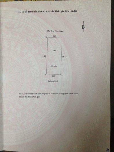 [SỐC] Nhà mặt phố Trần Quốc Hoàn giá 13.5 tỷ - 46m2, 5 tầng mặt tiền 4m.