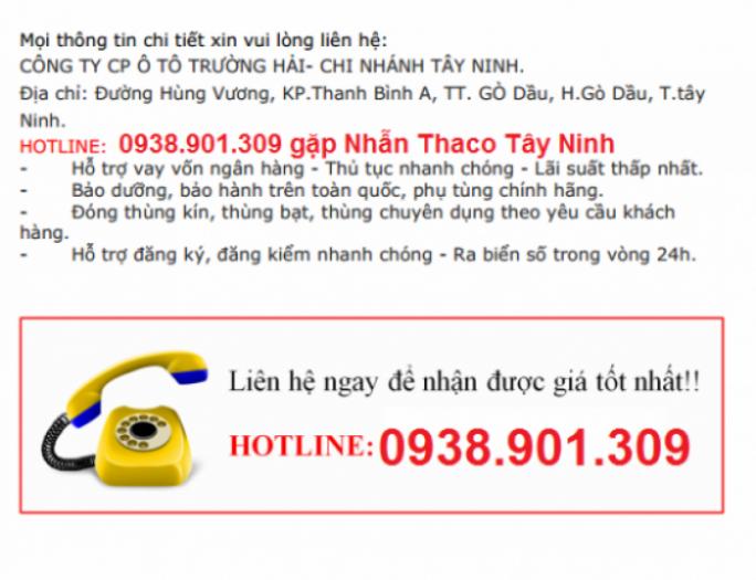 Giá xe tải 500kg,750kg,990 kg giá tốt nhất Tây Ninh hổ trợ vay ngân hàng, lãi suất ưu đãi.