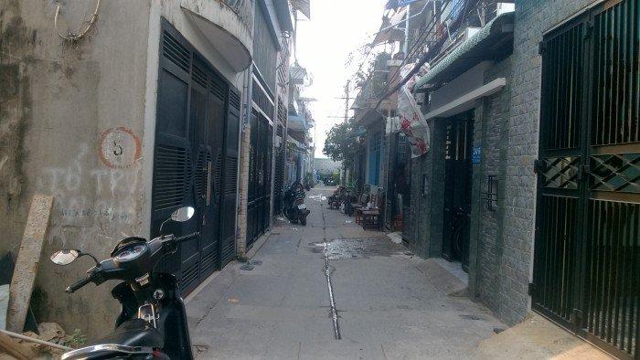 Nhà 1 Lầu Đúc 2 Mặt Hẻm Trước Sau 8m Nguyễn Sáng DT 4.2x16m