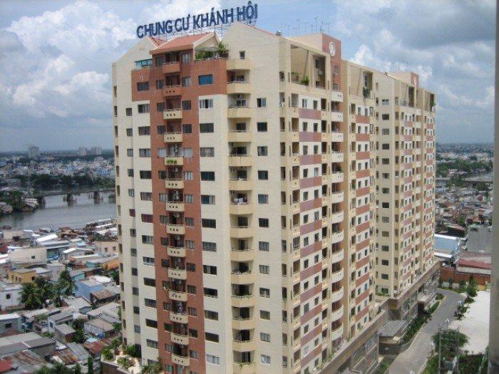 Cần bán căn hộ chung cư Khánh Hội 2- Q.4  dt 87m, 2 phòng ngủ, 2.7 tỷ