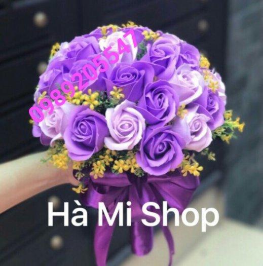 Bó hoa cưới bằng sáp thơm1