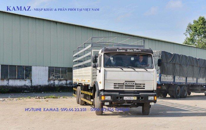 Tải thùng Kamaz nhâp nguyên chiếc tại Bình Dương & Bình Phước