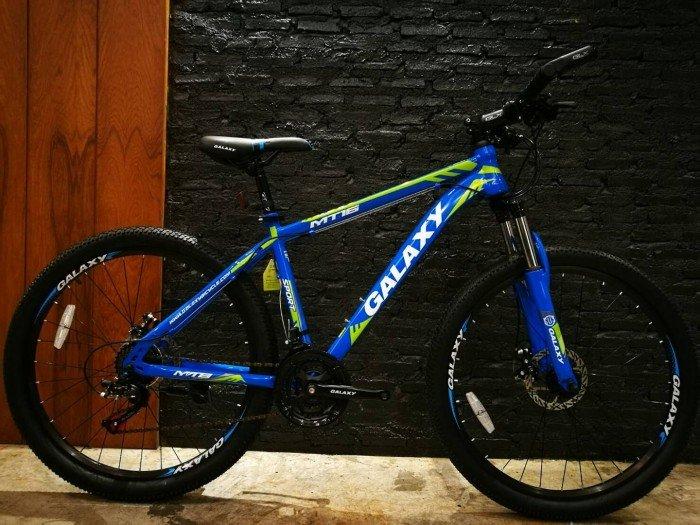 Xe đạp Galaxy MT16 2017, mới 100%, miễn phí giao hàng, màu xanh trời