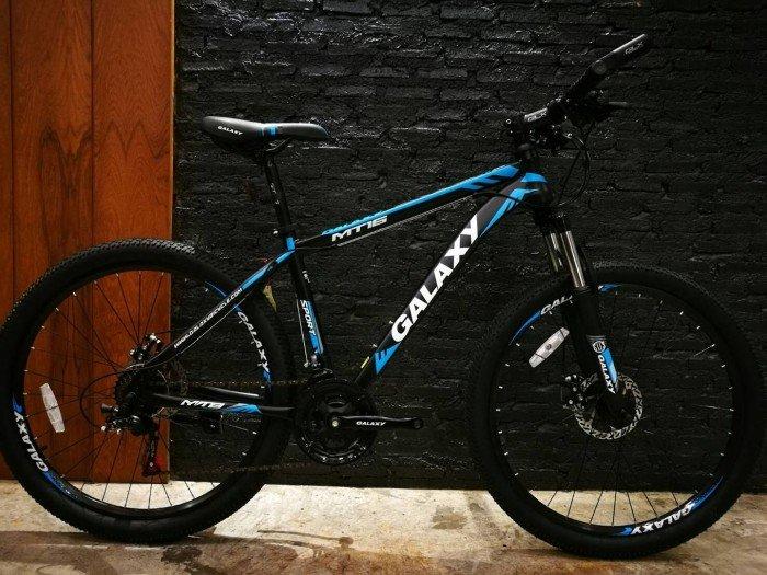 Xe đạp Galaxy MT16 2017, mới 100%, miễn phí giao hàng, màu đen xanh trời