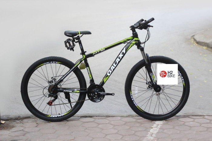 Xe đạp Galaxy MT16 2017, mới 100%, miễn phí giao hàng, màu đen xanh lá