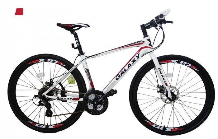 Xe đạp Galaxy RL500 2016, mới 100%, miễn phí giao hàng màu trắng đỏ