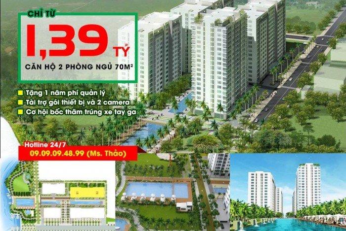 Mở bán block cuối, block đẹp nhất ch resort 4s linh đông, phạm văn đồng, 1,39 tỷ/70m2