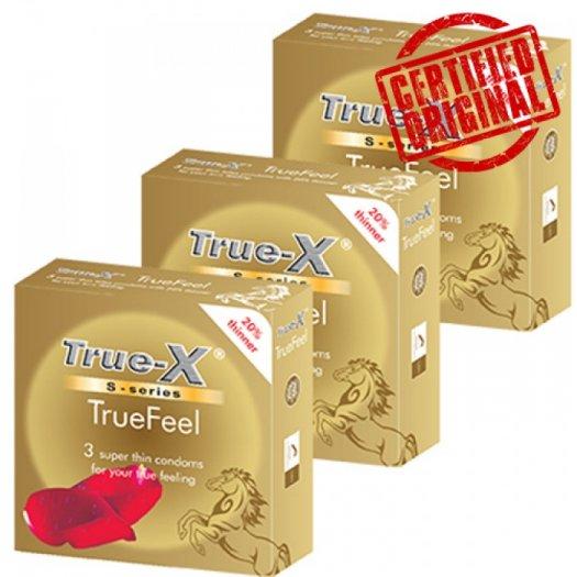 Combo 3 hộp Bao cao su Cực siêu mỏng TrueFeel