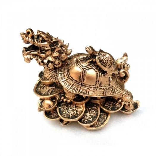 Tượng Đá Long Quy Phong Thủy (Màu Nhũ Vàng)  + Kích thước: Dài 12cm x Rộng 8cm x Cao 10cm . Giá 195.000₫0