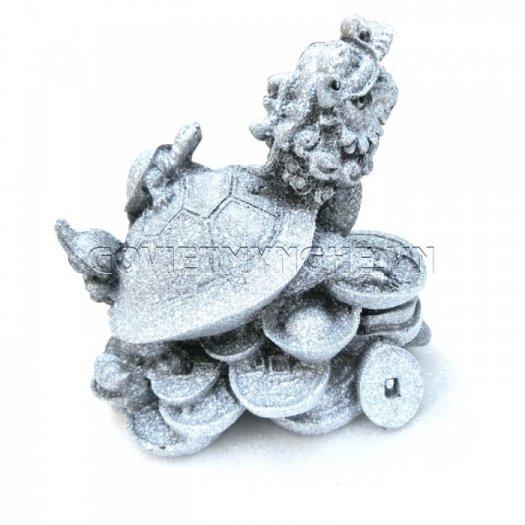 Tượng Đá Long Quy Phong Thủy (Màu Đá)  + Kích thước: Dài 12cm x Rộng 8cm x Cao 10cm . Giá 195.000₫9