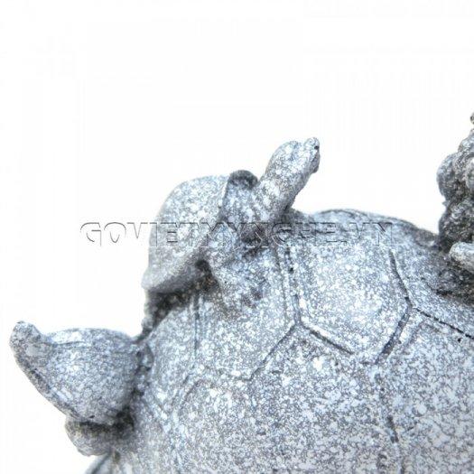 Tượng Đá Long Quy Phong Thủy (Màu Đá)  + Kích thước: Dài 12cm x Rộng 8cm x Cao 10cm . Giá 195.000₫12