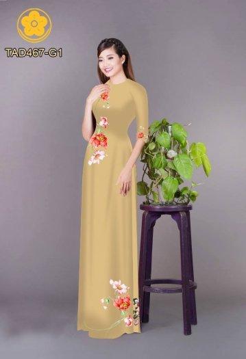 Vải áo dài in hoa đơn giản dễ thương2