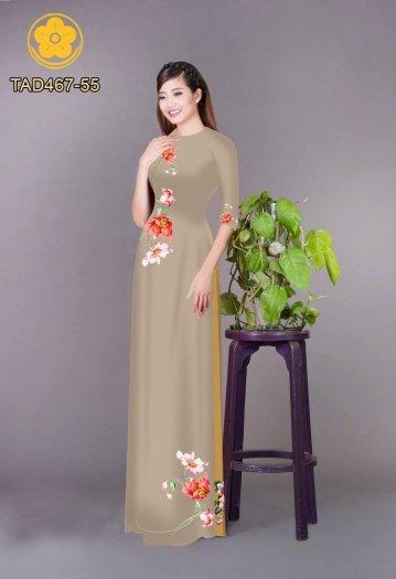 Vải áo dài in hoa đơn giản dễ thương3