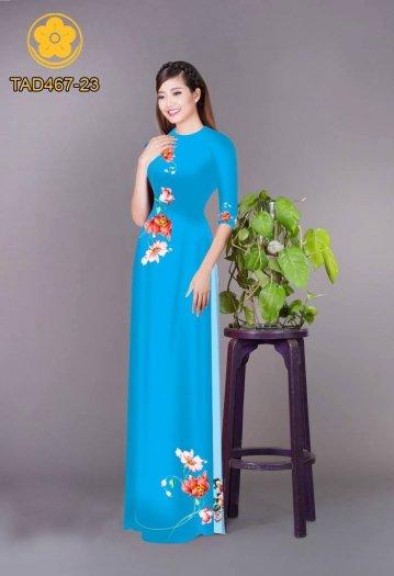 Vải áo dài in hoa đơn giản dễ thương4