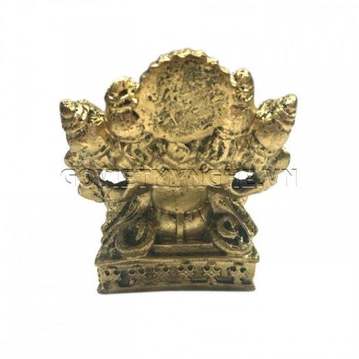 Tượng Đá Thần Voi Ganesha 5 Đầu (Màu Nhũ Đồng), Dài 9 x Rộng 7 x Cao 10 (cm), Giá - 150.000₫2