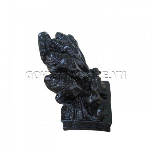Tượng Đá Thần Voi Ganesha 5 Đầu (Màu Đen), Dài 9 x Rộng 7 x Cao 10 (cm), Giá - 150.000₫4