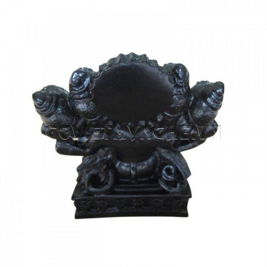 Tượng Đá Thần Voi Ganesha 5 Đầu (Màu Đen), Dài 9 x Rộng 7 x Cao 10 (cm), Giá - 150.000₫5