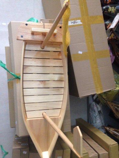 Khay Thuyền Gỗ Sushi - Sashimi Nhật Bản 50cm,60cm(có cột buồm)