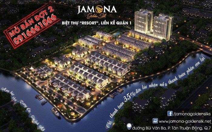 Những căn biệt thự cuối tại dự án Jamona Golden Silk Q7 - Chỉ thanh toán 35% nhận nhà - Từ 8tỷ/căn