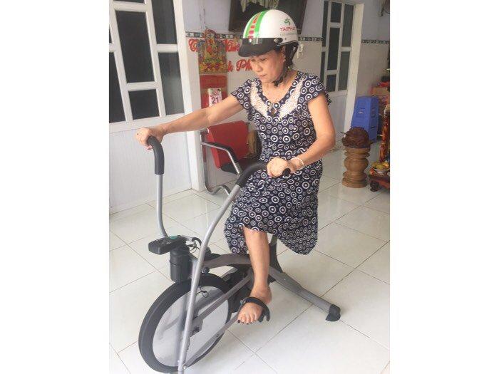 Xe đạp tập liên hoàn dành cho người già ,và người tai biến ở quy nhơn2
