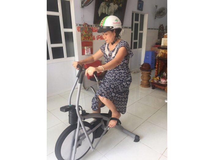 Xe đạp tập liên hoàn dành cho người già ,và người tai biến ở quy nhơn3