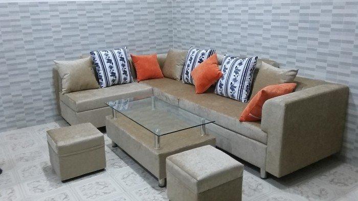 Bộ sofa vải bố cao cấp0
