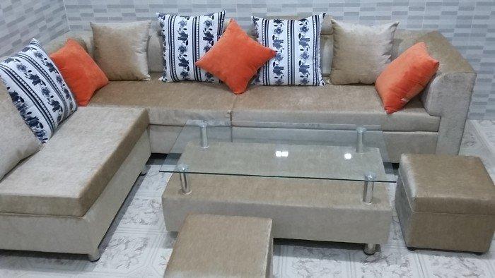 Bộ sofa vải bố cao cấp1