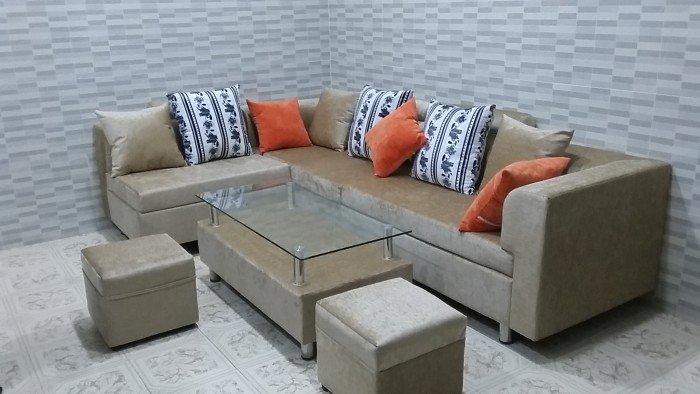 Bộ sofa vải bố cao cấp2