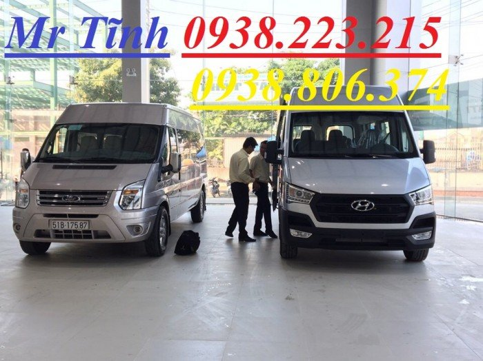 Xe 16 chỗ thaco hyundai h350 nhập khẩu 3 cục, xe hyundai 16 chỗ solati h350 thaco nhập khẩu