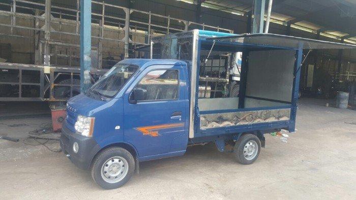 Xe tải dưới 1 tấn bán hàng lưu động, xe tải dongben 870kg thùng kín