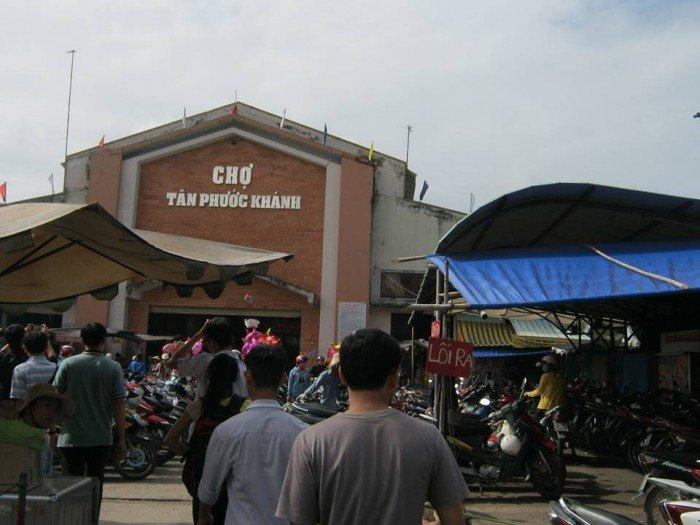 Bán gấp đất thổ cư , sổ riêng, mặt tiền đường bê tông 6m, chợ Tân Phước Khánh