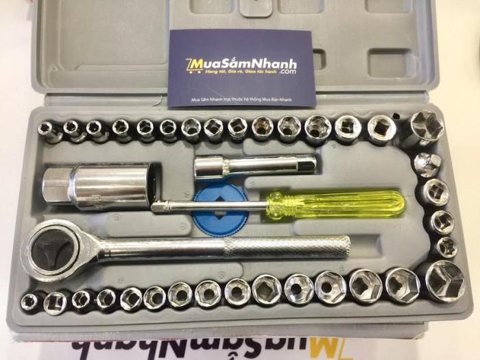 Bộ dụng cụ sửa chữa đa năng 40 MÓN Aiwa chất liệu kim loại tốt, bền chắc - MSN383196