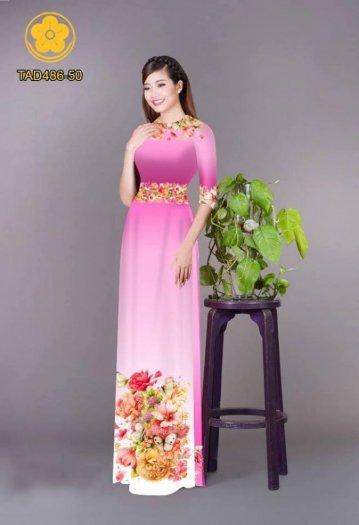 Vải áo dài hoa đẹp được thiết kế đôc đáo của Vải Áo Dài Kim Ngọc1