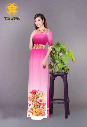 Vải áo dài hoa đẹp được thiết kế đôc đáo của Vải Áo Dài Kim Ngọc2