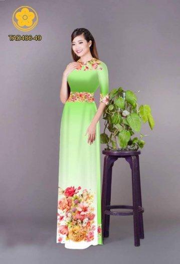 Vải áo dài hoa đẹp được thiết kế đôc đáo của Vải Áo Dài Kim Ngọc5