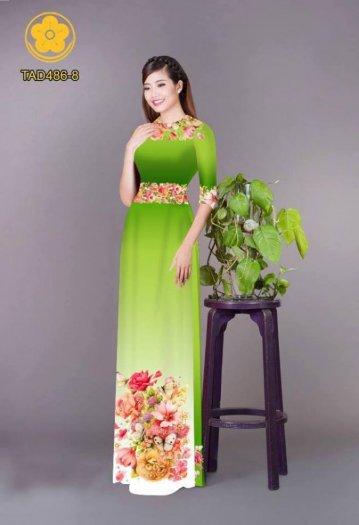 Vải áo dài hoa đẹp được thiết kế đôc đáo của Vải Áo Dài Kim Ngọc7