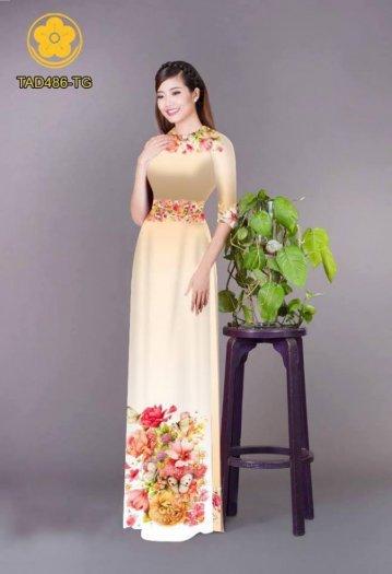 Vải áo dài hoa đẹp được thiết kế đôc đáo của Vải Áo Dài Kim Ngọc6