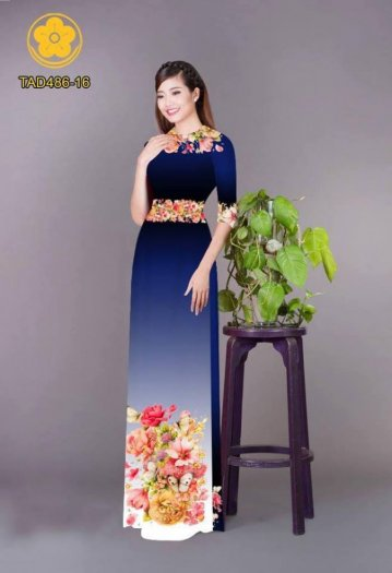Vải áo dài hoa đẹp được thiết kế đôc đáo của Vải Áo Dài Kim Ngọc9