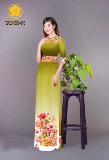 Vải áo dài hoa đẹp được thiết kế đôc đáo của Vải Áo Dài Kim Ngọc11