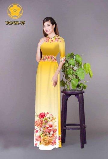 Vải áo dài hoa đẹp được thiết kế đôc đáo của Vải Áo Dài Kim Ngọc0