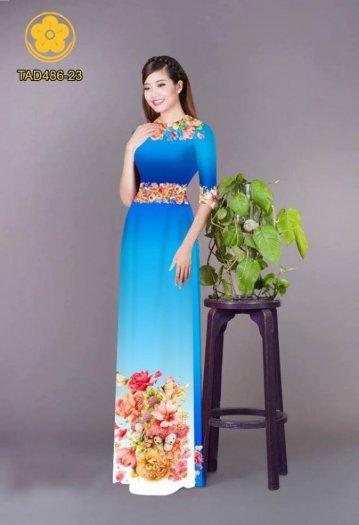 Vải áo dài hoa đẹp được thiết kế đôc đáo của Vải Áo Dài Kim Ngọc21