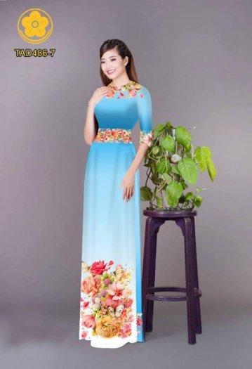 Vải áo dài hoa đẹp được thiết kế đôc đáo của Vải Áo Dài Kim Ngọc3