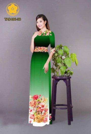 Vải áo dài hoa đẹp được thiết kế đôc đáo của Vải Áo Dài Kim Ngọc4