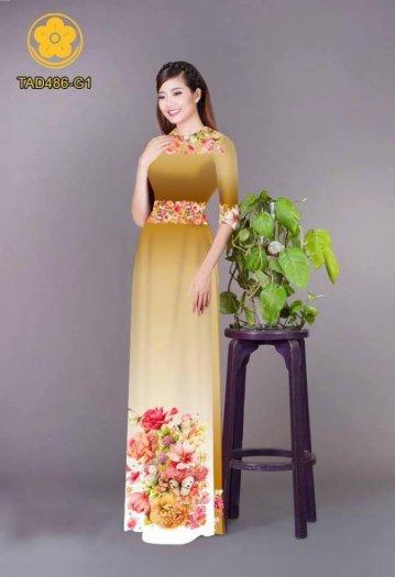 Vải áo dài hoa đẹp được thiết kế đôc đáo của Vải Áo Dài Kim Ngọc27