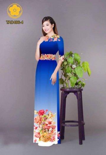 Vải áo dài hoa đẹp được thiết kế đôc đáo của Vải Áo Dài Kim Ngọc28