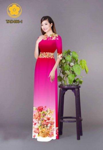 Vải áo dài hoa đẹp được thiết kế đôc đáo của Vải Áo Dài Kim Ngọc8