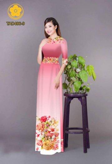 Vải áo dài hoa đẹp được thiết kế đôc đáo của Vải Áo Dài Kim Ngọc10