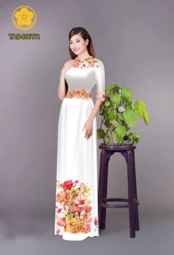 Vải áo dài hoa đẹp được thiết kế đôc đáo của Vải Áo Dài Kim Ngọc14