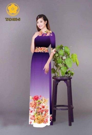 Vải áo dài hoa đẹp được thiết kế đôc đáo của Vải Áo Dài Kim Ngọc15
