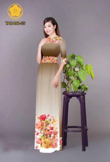 Vải áo dài hoa đẹp được thiết kế đôc đáo của Vải Áo Dài Kim Ngọc18